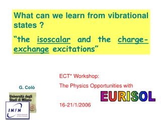 What can we learn from vibrational states ?