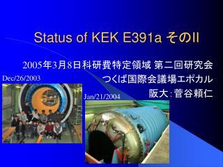 Status of KEK E391a  その II