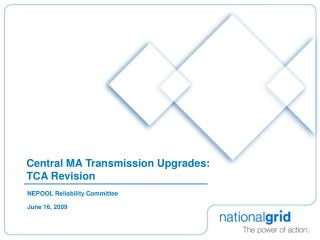 Central MA Transmission Upgrades: TCA Revision
