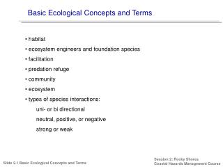 Basic Ecological Concepts and Terms