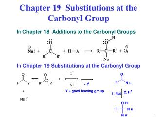Chapter 19  Substitutions at the Carbonyl Group