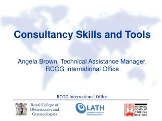 Consultancy Skills and Tools