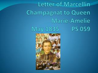 Letter of  Marcellin Champagnat  to Queen Marie- Amelie May 1835        PS 059