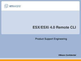ESX/ESXi 4.0 Remote CLI