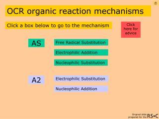 OCR organic reaction mechanisms