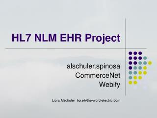 HL7 NLM EHR Project