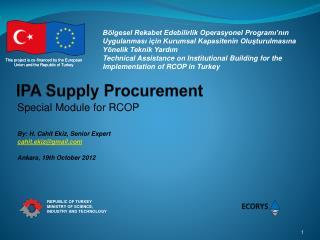 IPA Supply Procurement