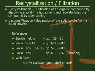 Recrystallization / Filtration