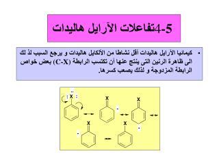 4 -5  تفاعلات الآرايل هاليدات
