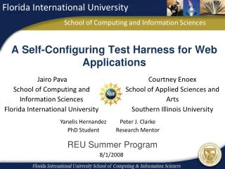 A Self-Configuring Test Harness for Web Applications