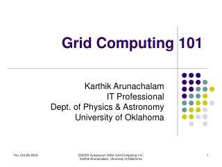 Grid Computing 101