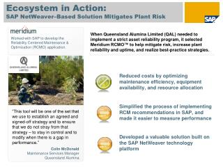SAP NetWeaver–Based Solution Mitigates Plant Risk