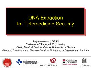 DNA Extraction  for Telemedicine Security