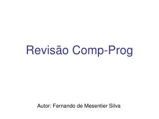 Revisão Comp-Prog
