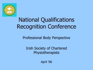 National Qualifications Recognition Conference