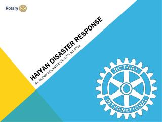 HAIYAN DISASTER RESPONSE