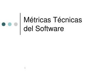 M é tricas Técnicas del Software