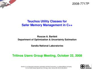 Teuchos Utility Classes for Safer Memory Management in C++