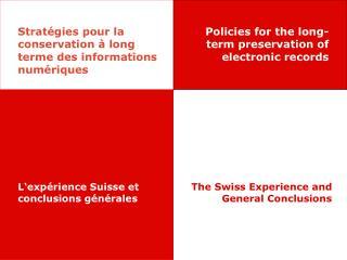 Stratégies pour la conservation à long terme des informations numériques