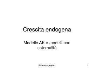 Crescita endogena