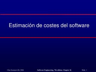 Estimaci�n de costes del software