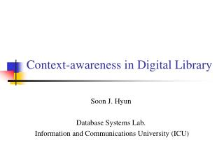 Context-awareness in Digital Library