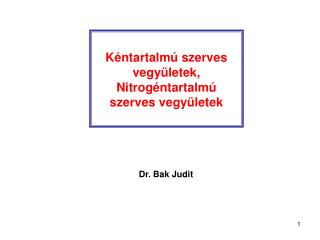 Kéntartalmú szerves vegyületek , Nitrogéntartalmú szerves vegyületek