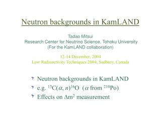 Neutron backgrounds in KamLAND