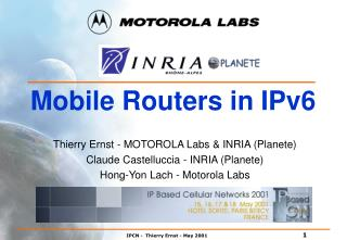 Mobile Routers in IPv6