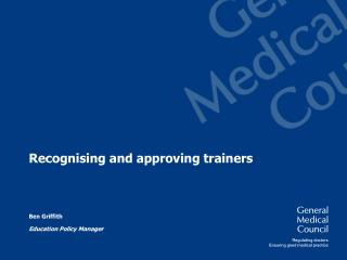 Recognising and approving trainers