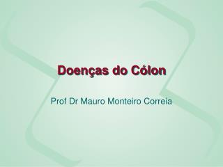 Doenças do Cólon