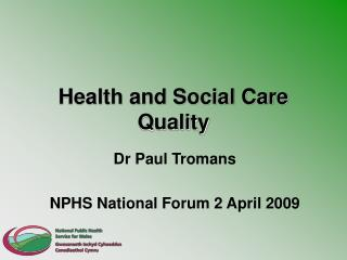 Health and Social Care Quality