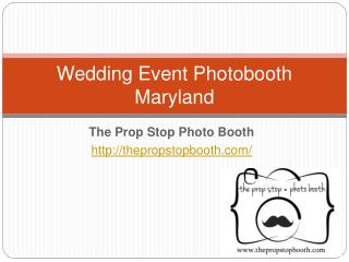 Wedding Event Photo Booth Maryland