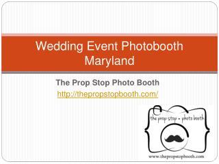 Wedding Event Photo Booth Maryland