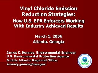 Vinyl Chloride Emission  Reduction Strategies: