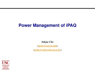 Power Management of iPAQ