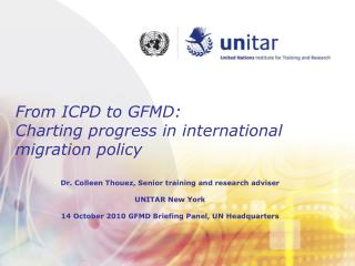 From ICPD to GFMD:  Charting progress in international migration policy