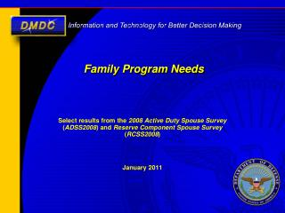 Family Program Needs