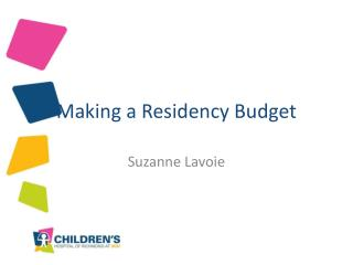 Making a Residency Budget