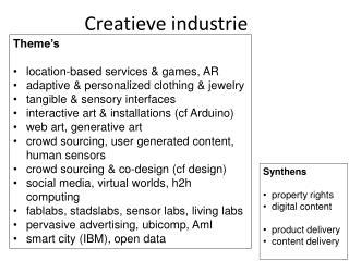 Creatieve industrie