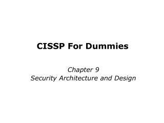 CISSP For Dummies