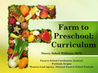 Farm to Preschool: Curriculum