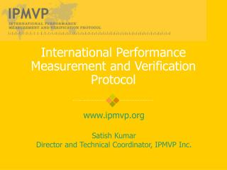 International Performance Measurement and Verification Protocol