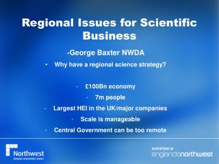Regional Issues for Scientific Business