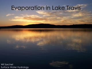 Evaporation in Lake Travis