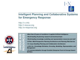 ___________________________________________________ Intelligent Planning and Collaborative Systems