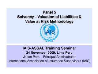 Panel 5 Solvency -  Valuation of  Liabilities &                     Value at Risk Methodology