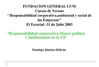 FUNDACION GENERAL UCM Cursos de Verano