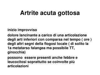 Artrite acuta gottosa