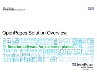 OpenPages Solution Overview
